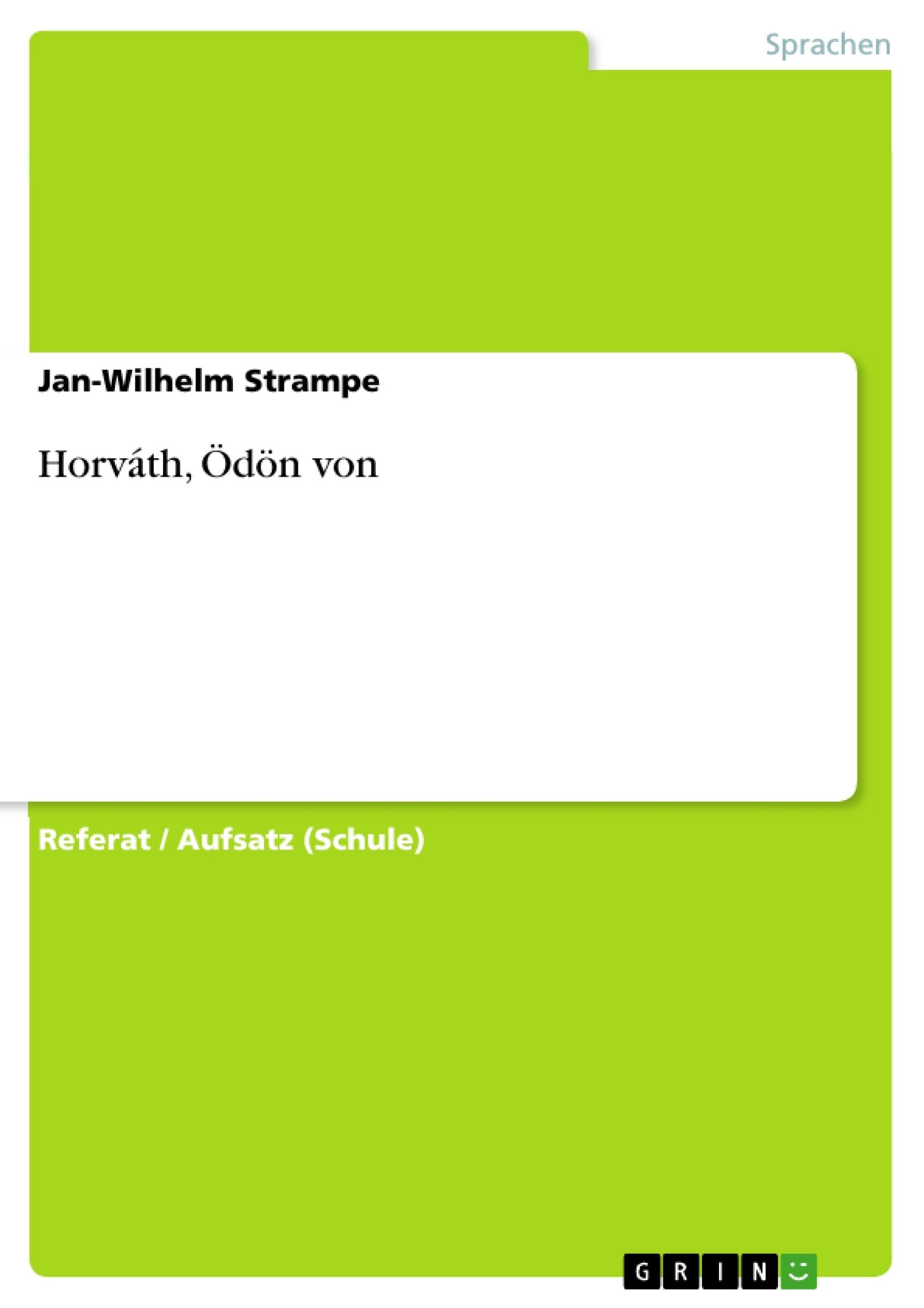 Titel: Horváth, Ödön von