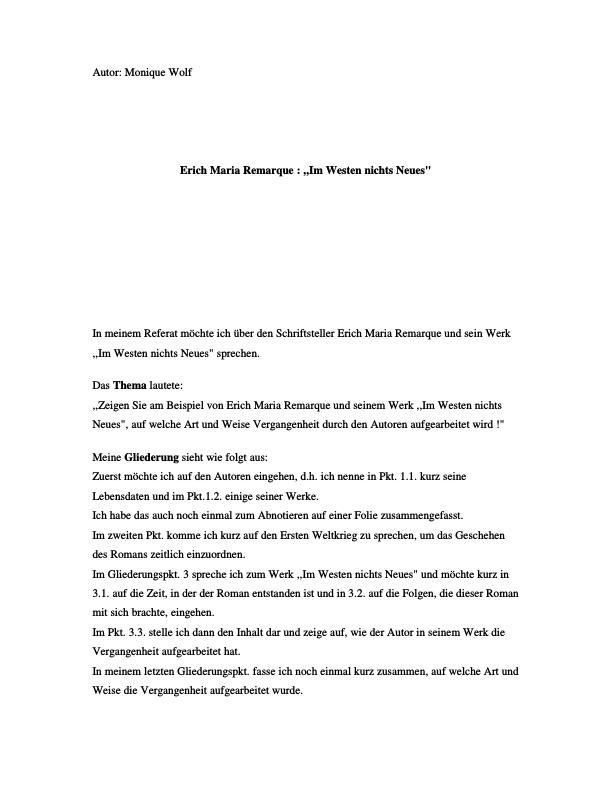 Titel: Remarque, Erich Maria - Im Westen nichts Neues