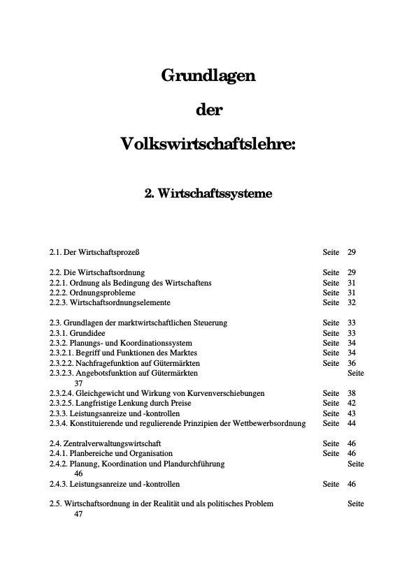 Titel: Wirtschaftssysteme