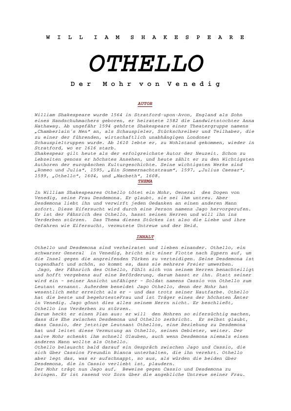 Titel: Shakespeare, William - Othello