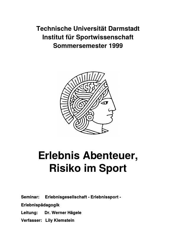 Titel: Erlebnis Abenteuer, Risiko im Sport