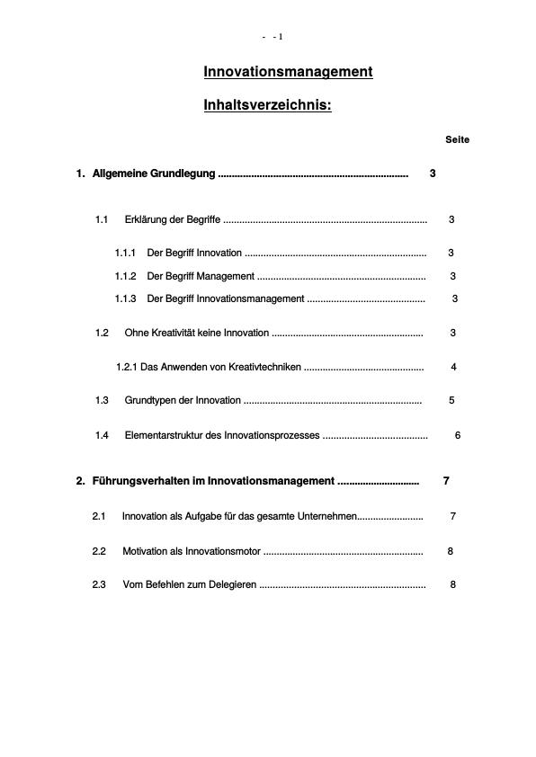 Titel: Innovationsmanagemnt