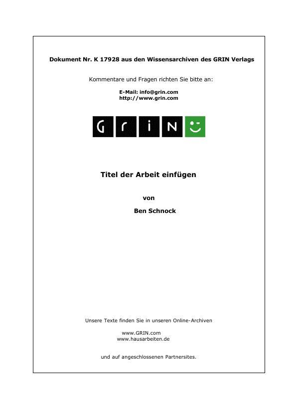 Titel: Eichendorff, Joseph - Sehnsucht (Gedichtinterpretation)