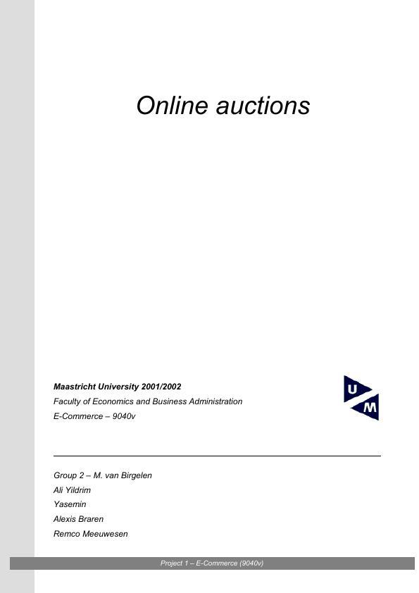 Title: Online auctions