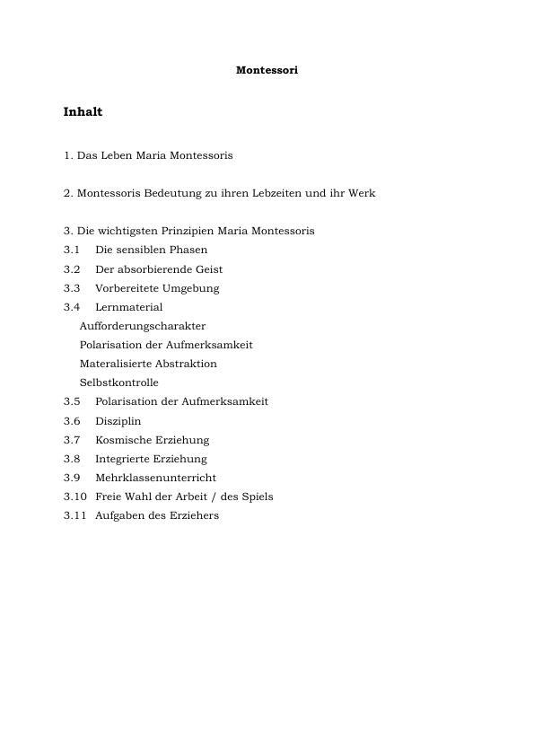 Titel: Die Prinzipien Maria Montessoris. Ihr Leben und Werk