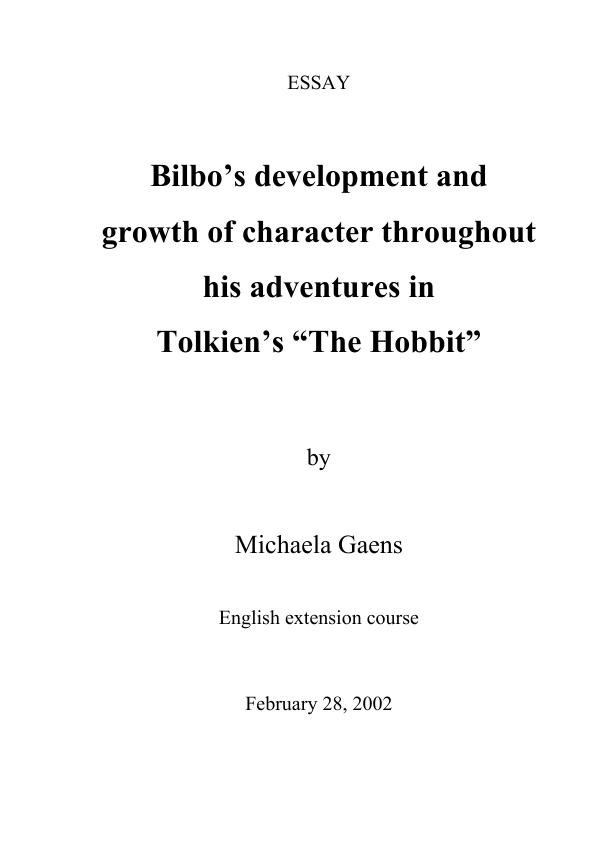How To Write A Good Narrative Essay Upload Your Own Papers Earn Money And Win An Iphone X Alcohol Addiction Essay also Essay Writing Examples For High School Tolkien  The Hobbit  Bilbos Development And Growth Of Character  World War 1 Essay