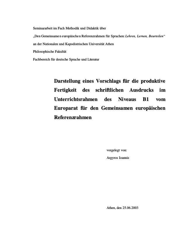 Referenzrahmen für Sprachen | Masterarbeit, Hausarbeit ...