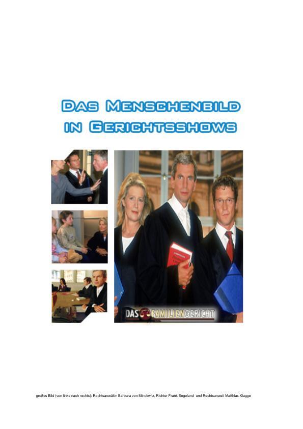 Titel: Das Menschenbild in Gerichtsshows