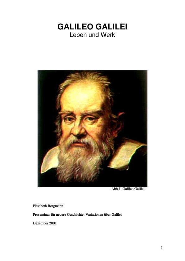 Titel: Galileo Galilei - Leben und Werk