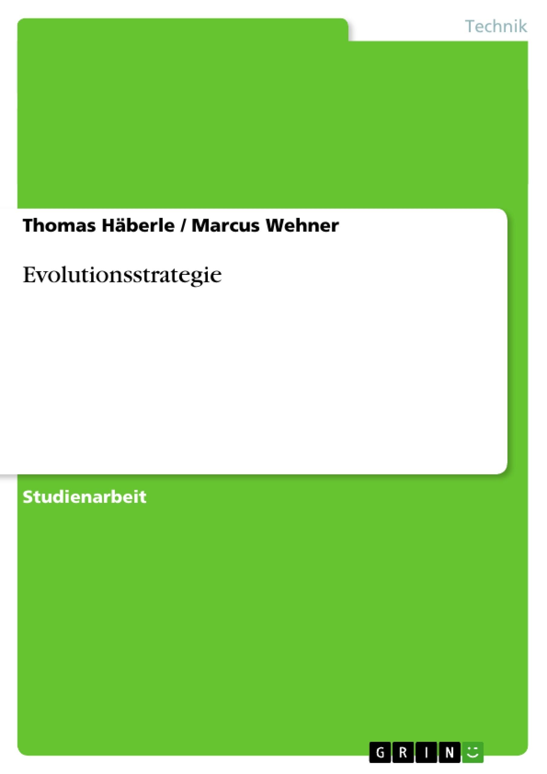 Titel: Evolutionsstrategie