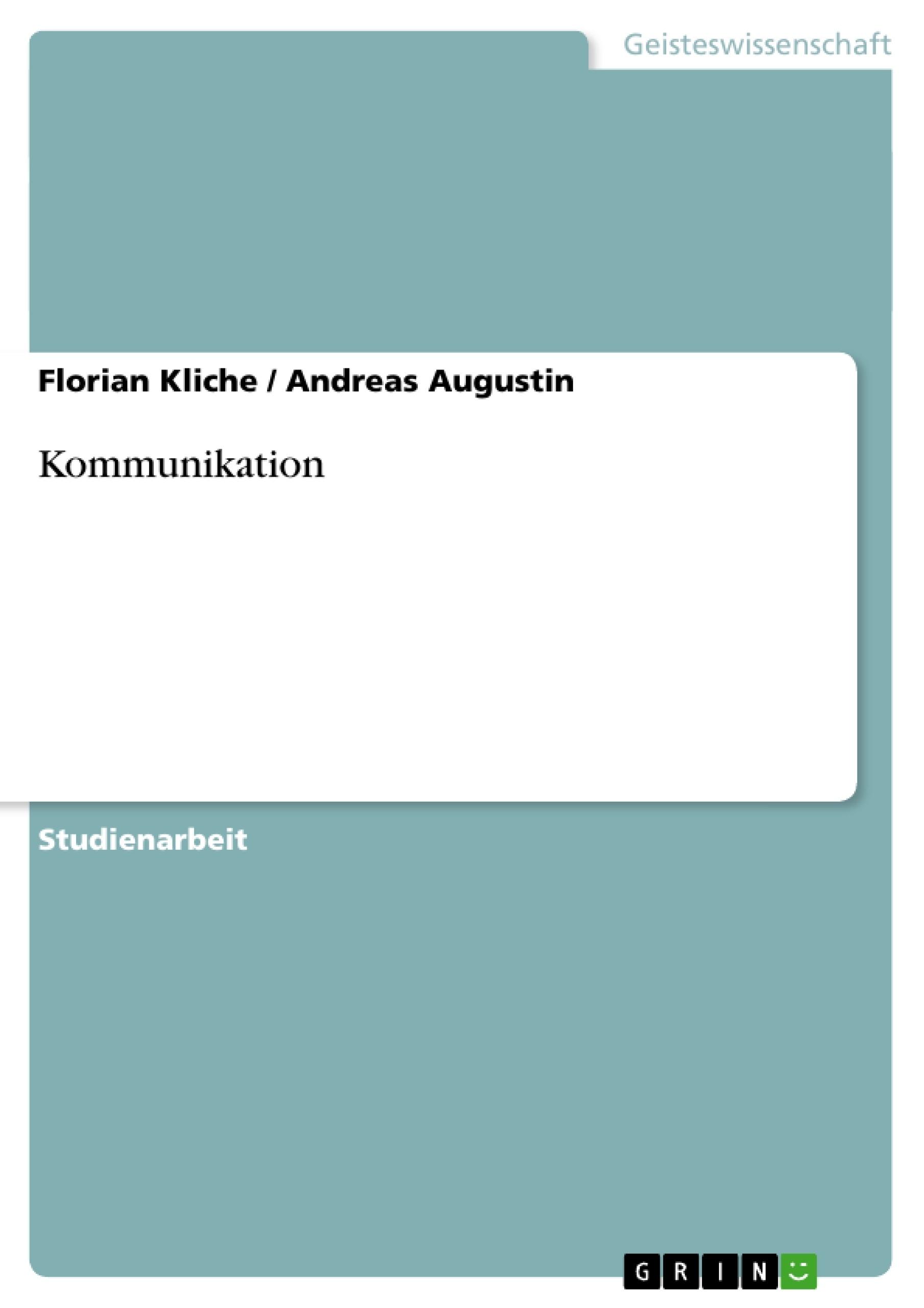 Kommunikation Hausarbeiten Publizieren