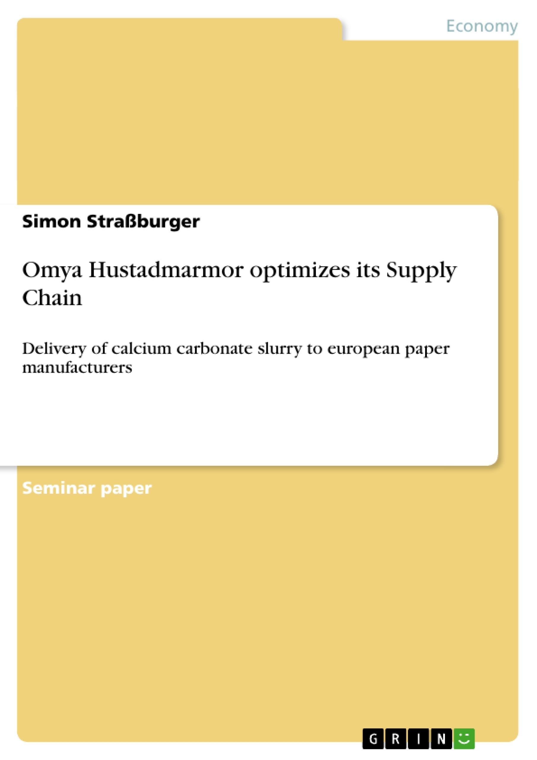 Title: Omya Hustadmarmor optimizes its Supply Chain
