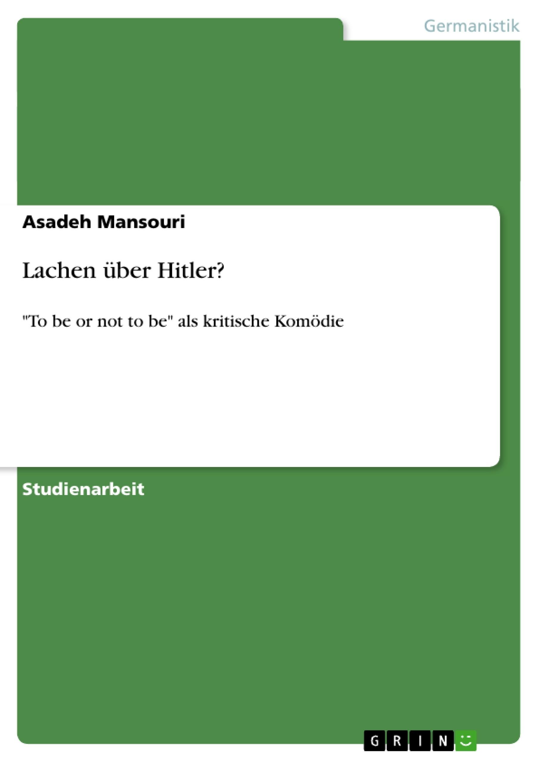 Titel: Lachen über Hitler?