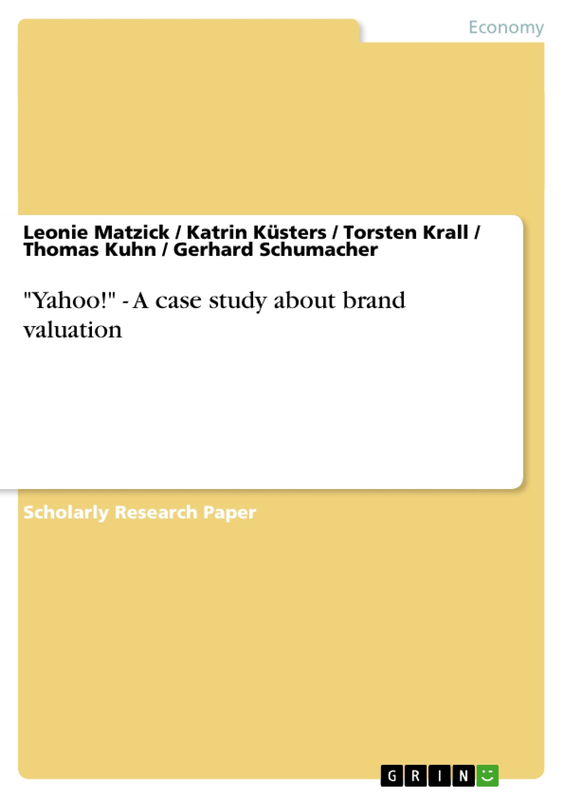 "Title: ""Yahoo!"" - A case study about brand valuation"