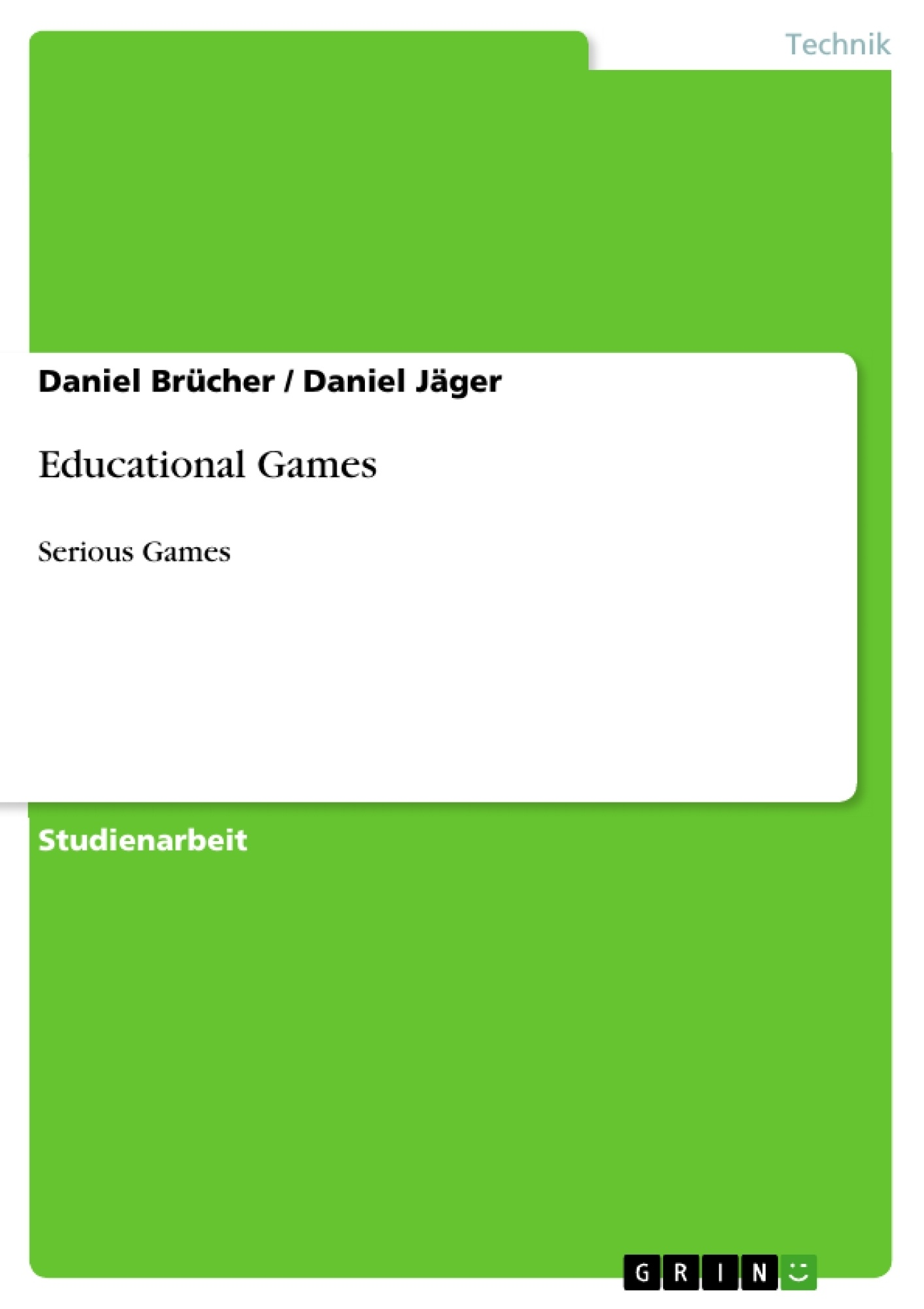 Titel: Educational Games
