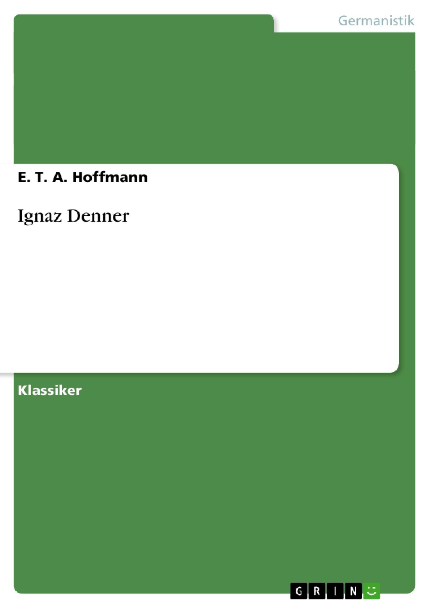 Titel: Ignaz Denner