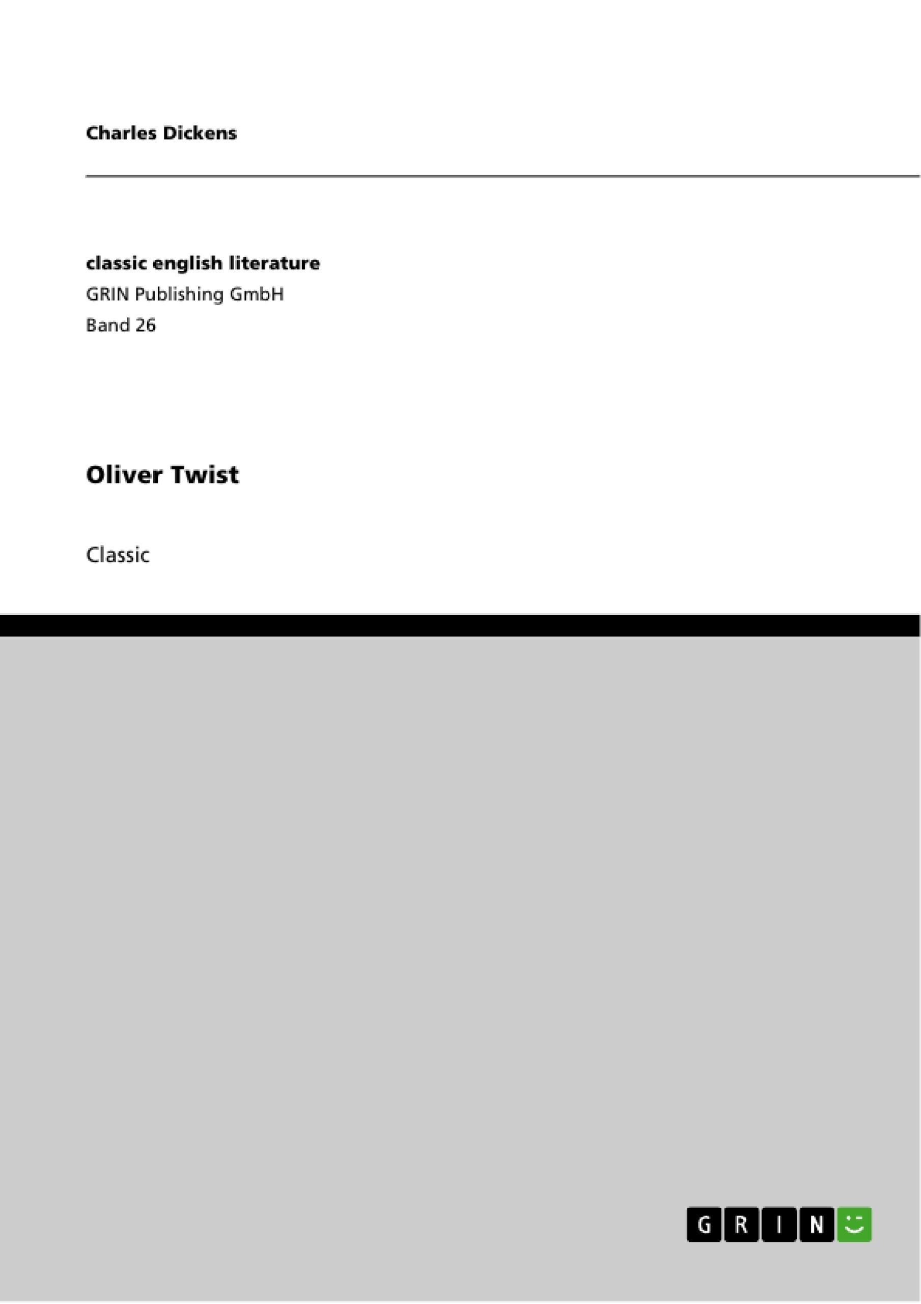 Title: Oliver Twist