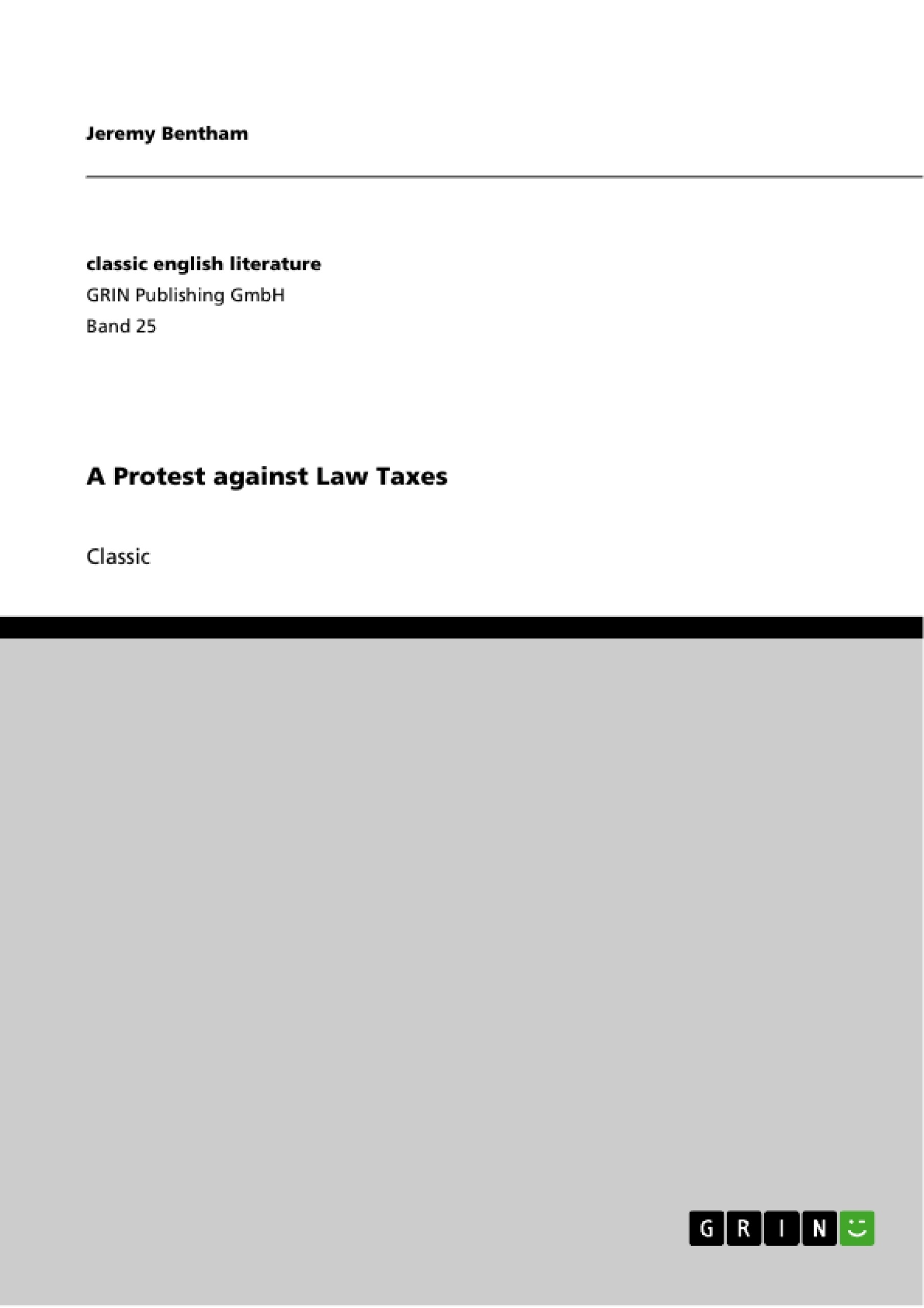 Title: A Protest against Law Taxes