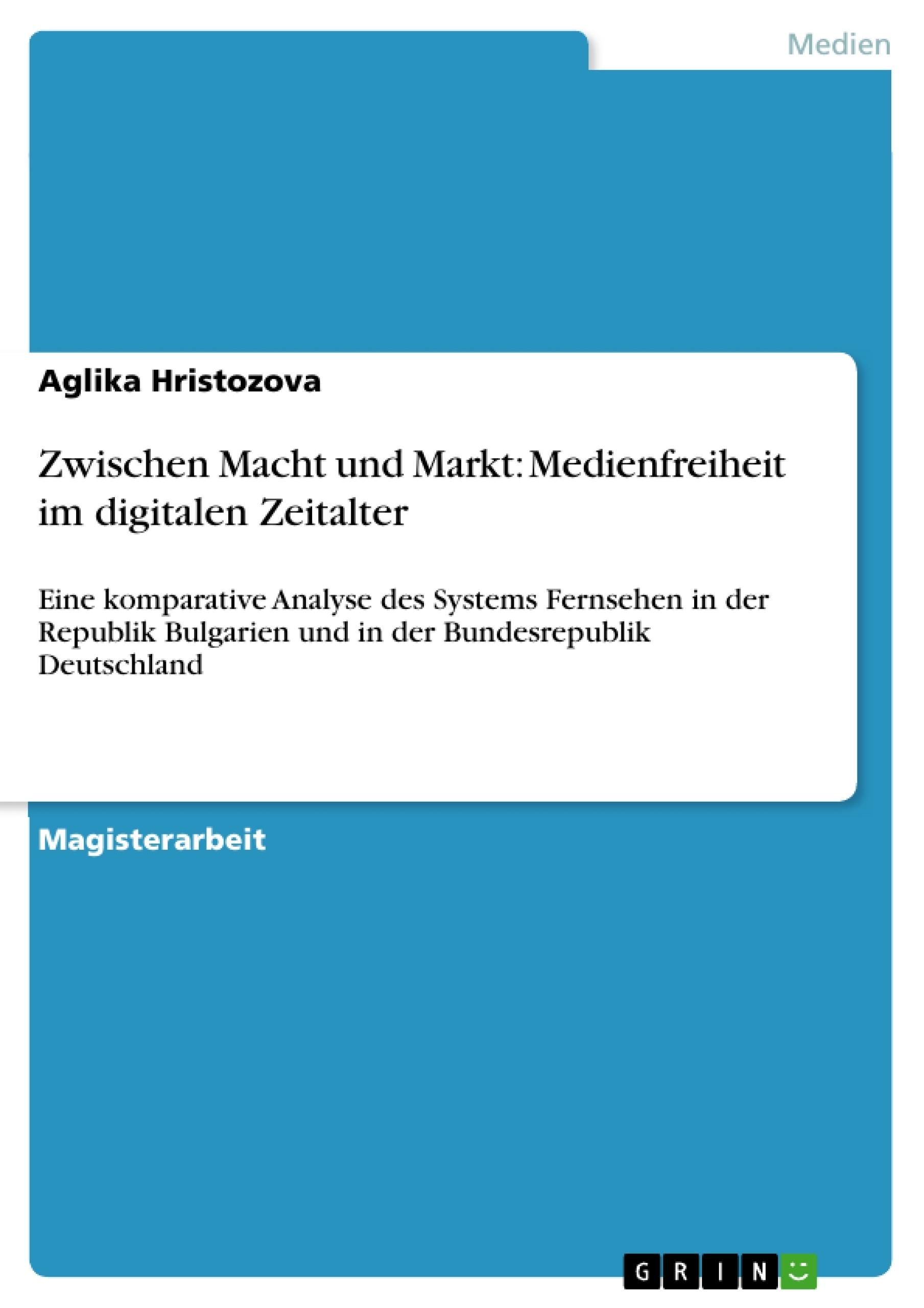 Zwischen Macht und Markt: Medienfreiheit im digitalen Zeitalter ...