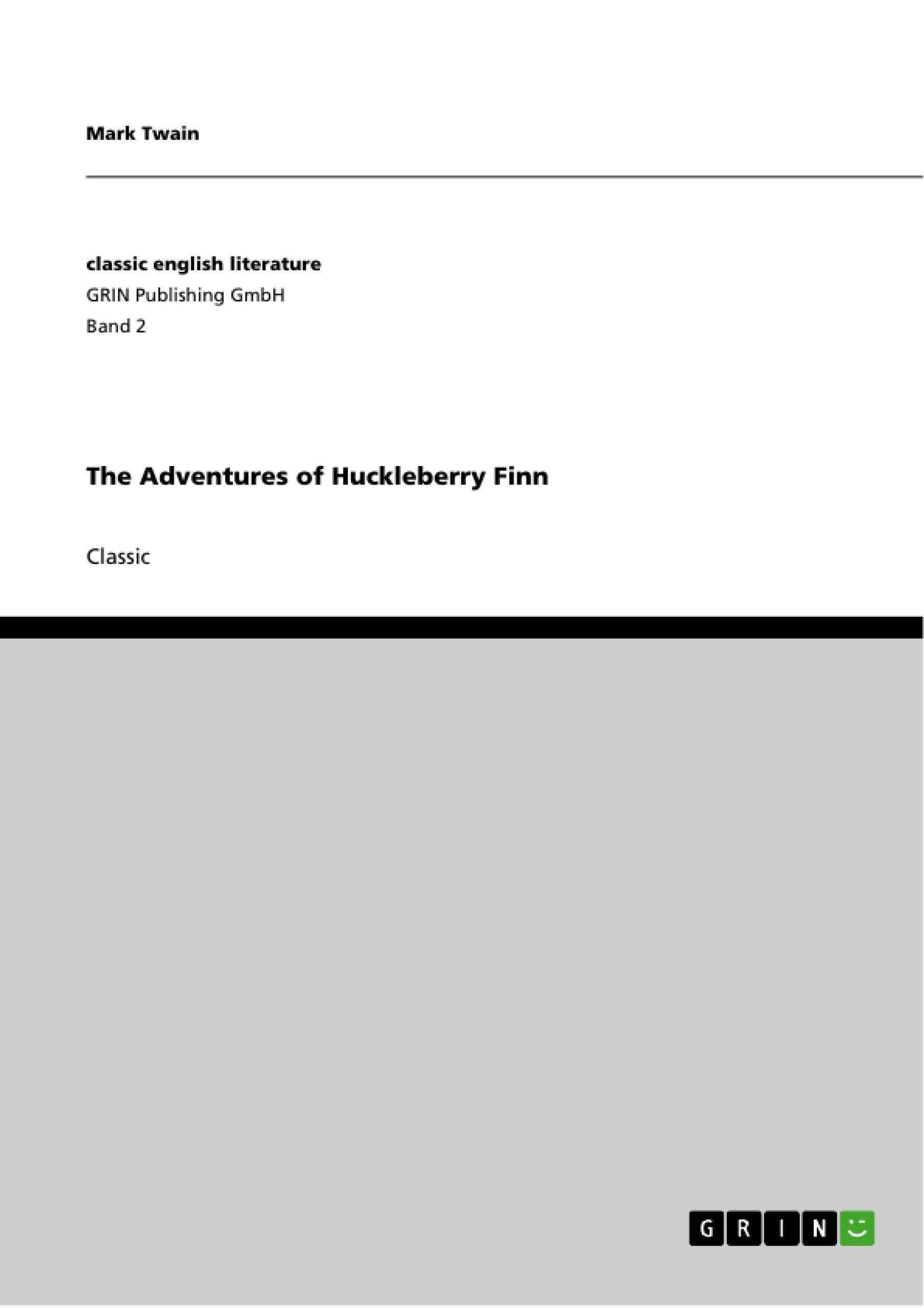 Title: The Adventures of Huckleberry Finn