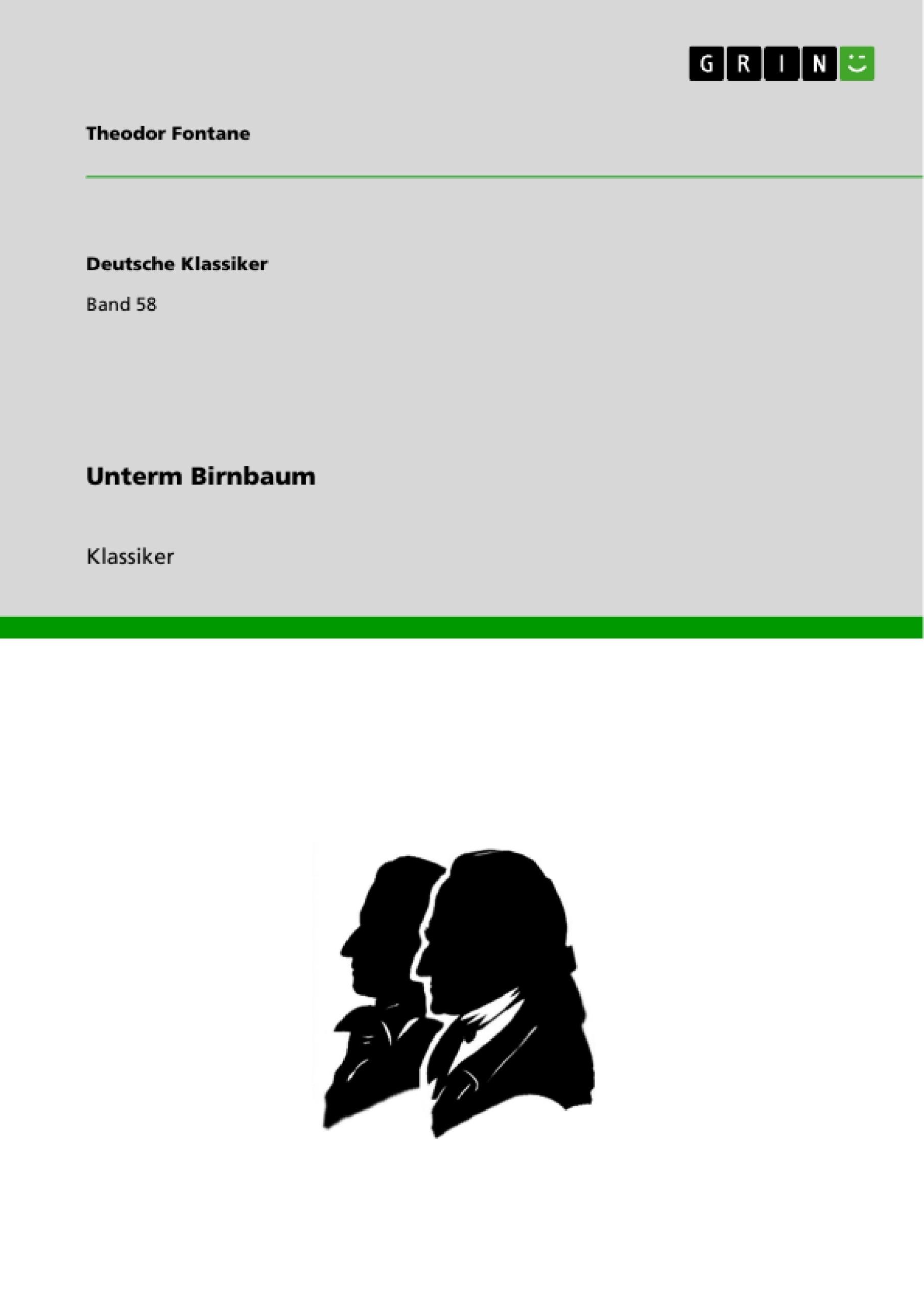 Titel: Unterm Birnbaum