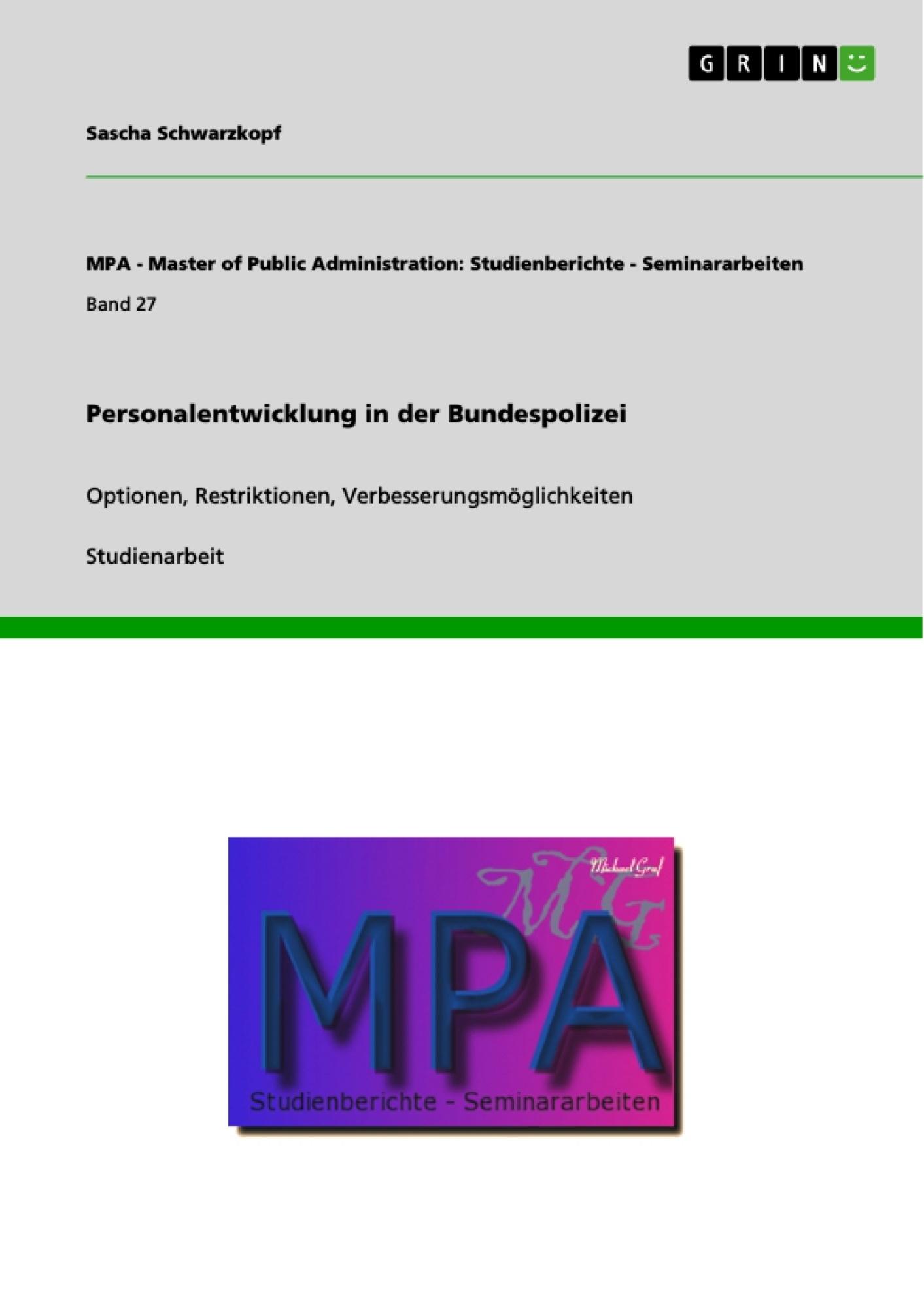 Titel: Personalentwicklung in der Bundespolizei