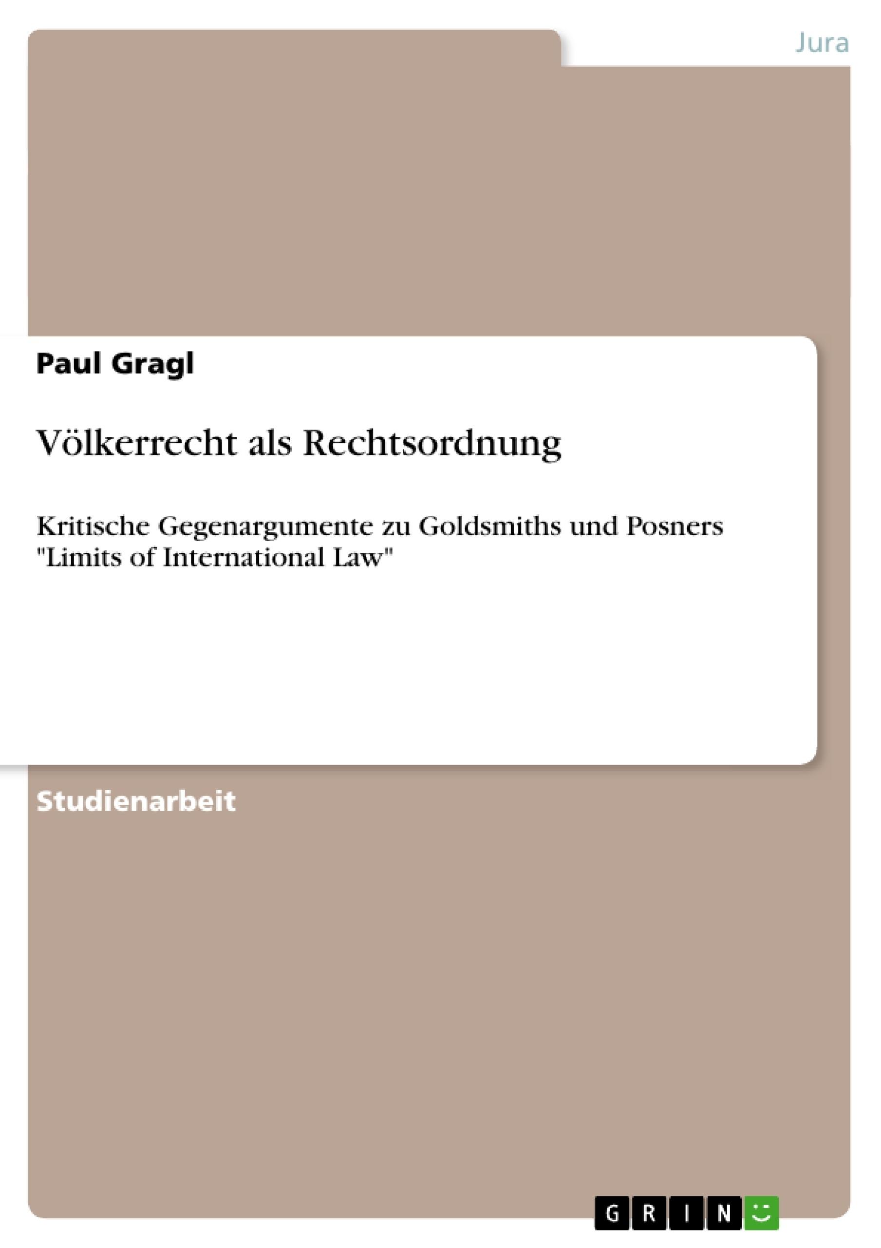 Titel: Völkerrecht als Rechtsordnung
