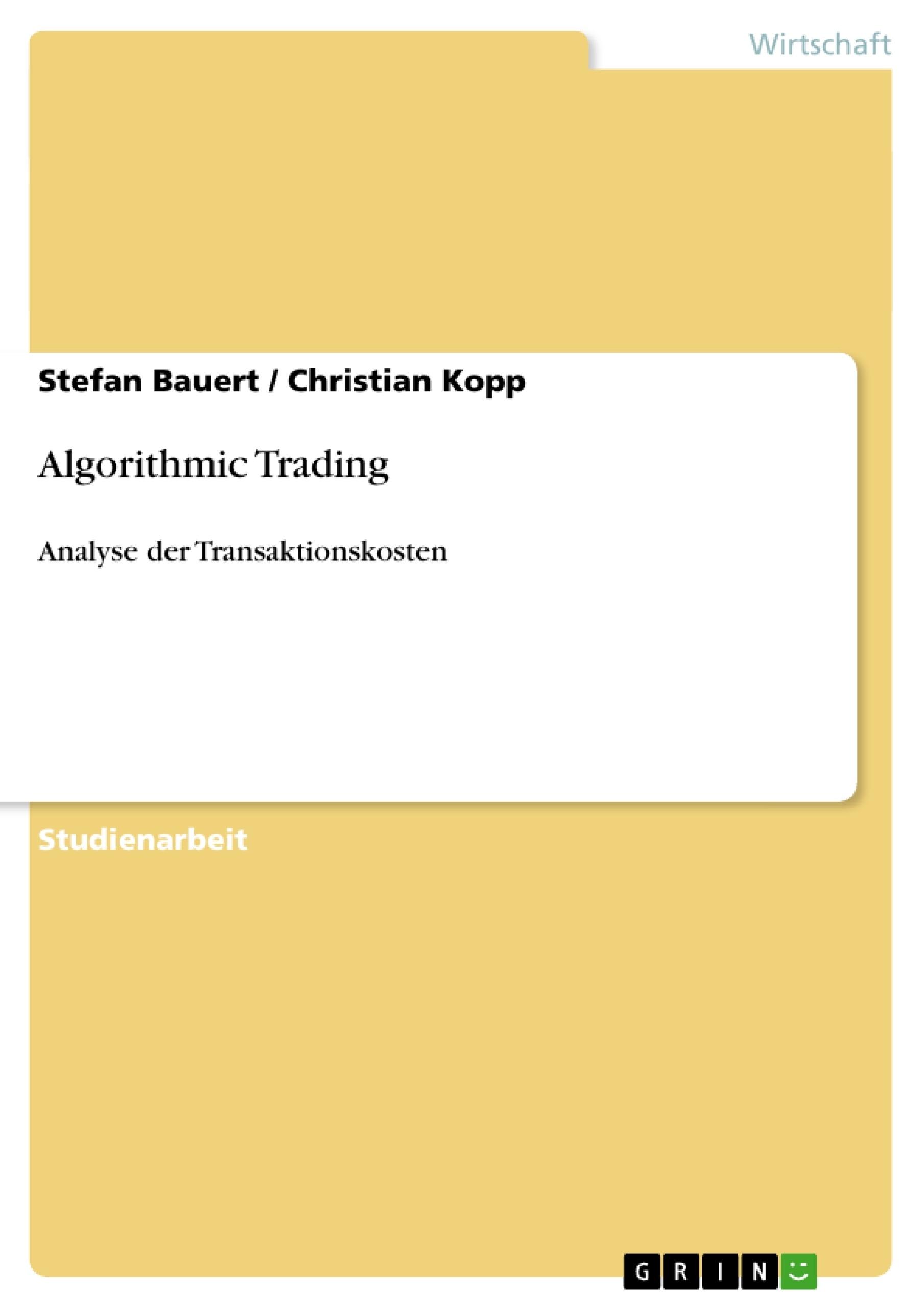 Titel: Algorithmic Trading