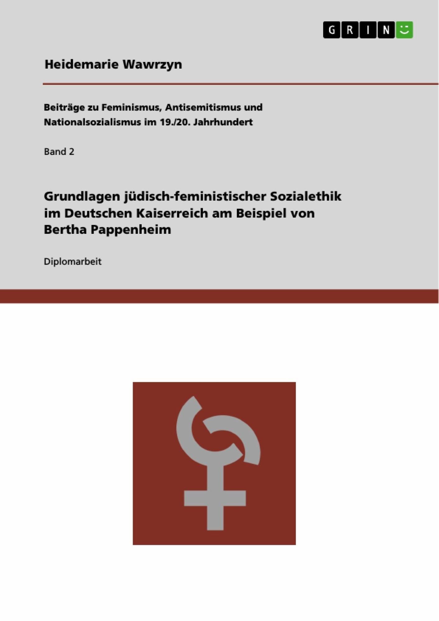 Grundlagen jüdisch-feministischer Sozialethik im Deutschen ...