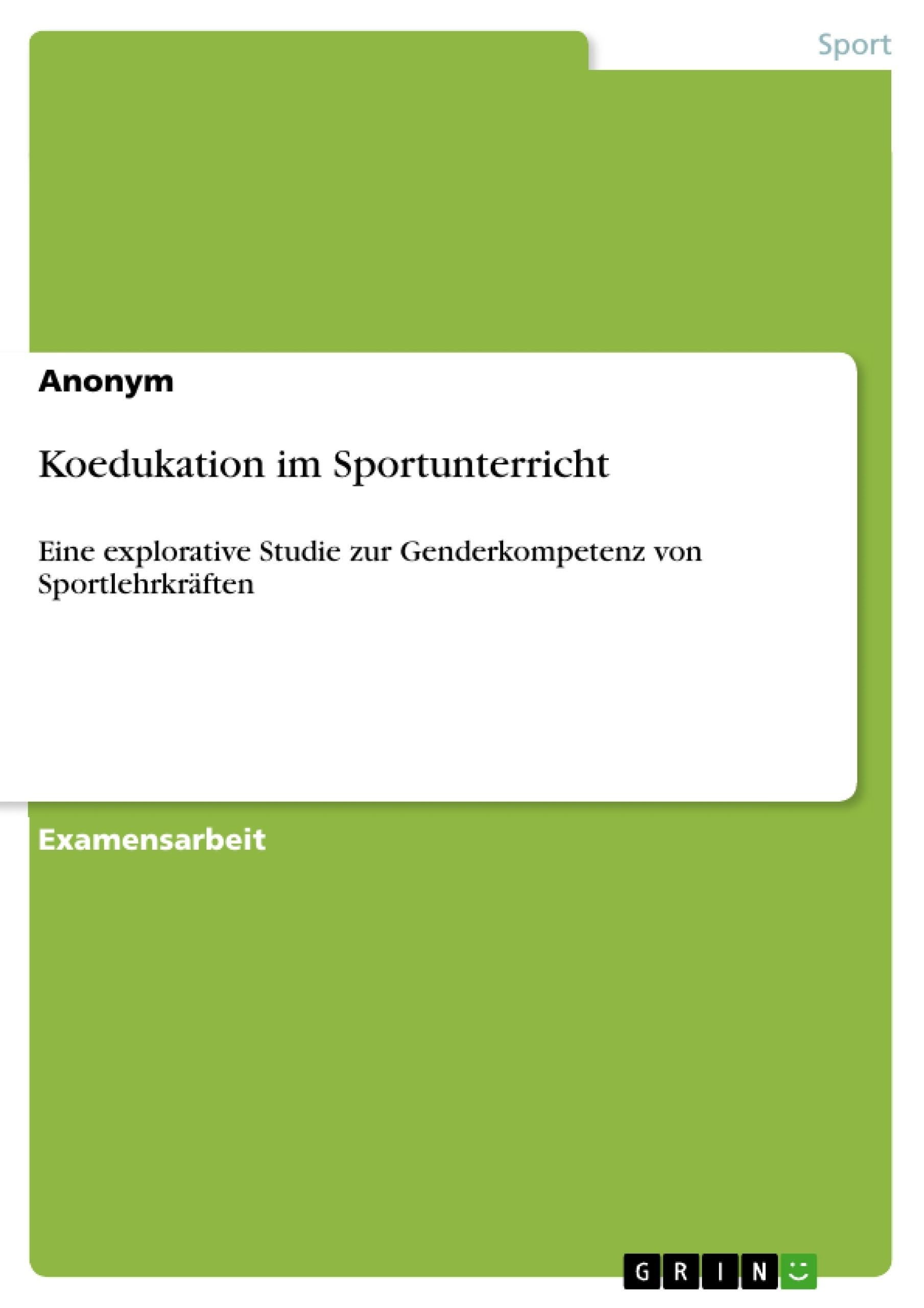 Titel: Koedukation im Sportunterricht