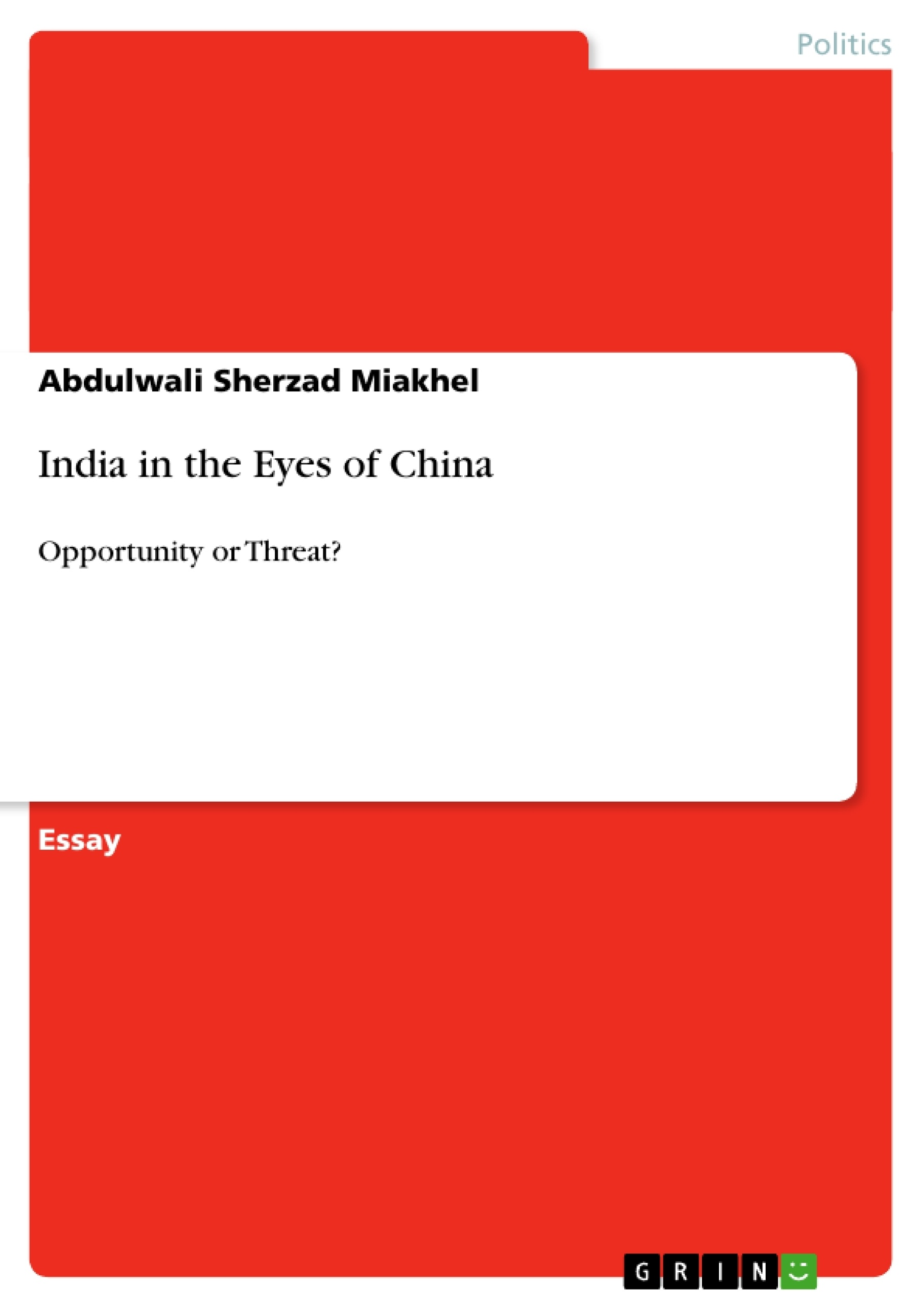 china a threat to india essays