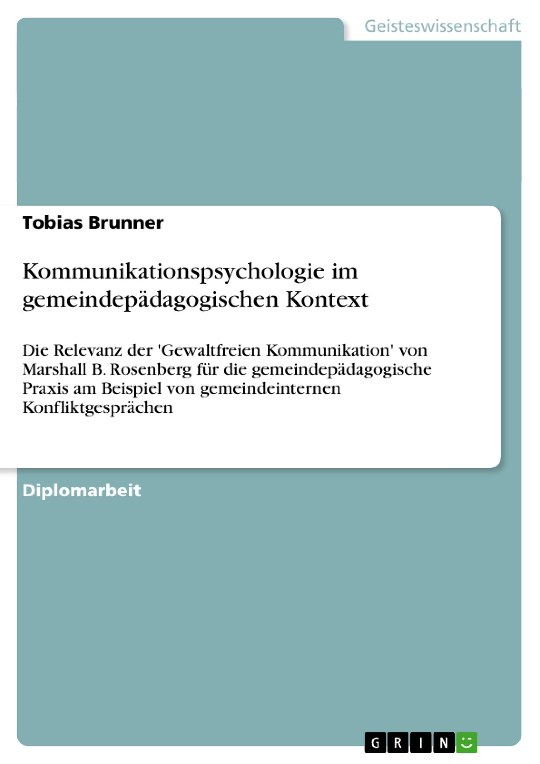Titel: Kommunikationspsychologie im gemeindepädagogischen Kontext