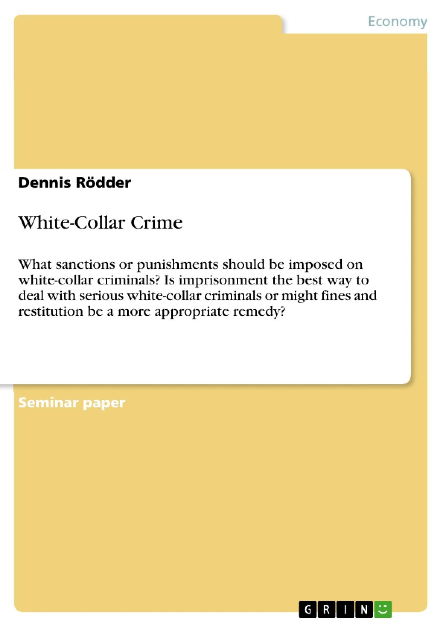 Title: White-Collar Crime