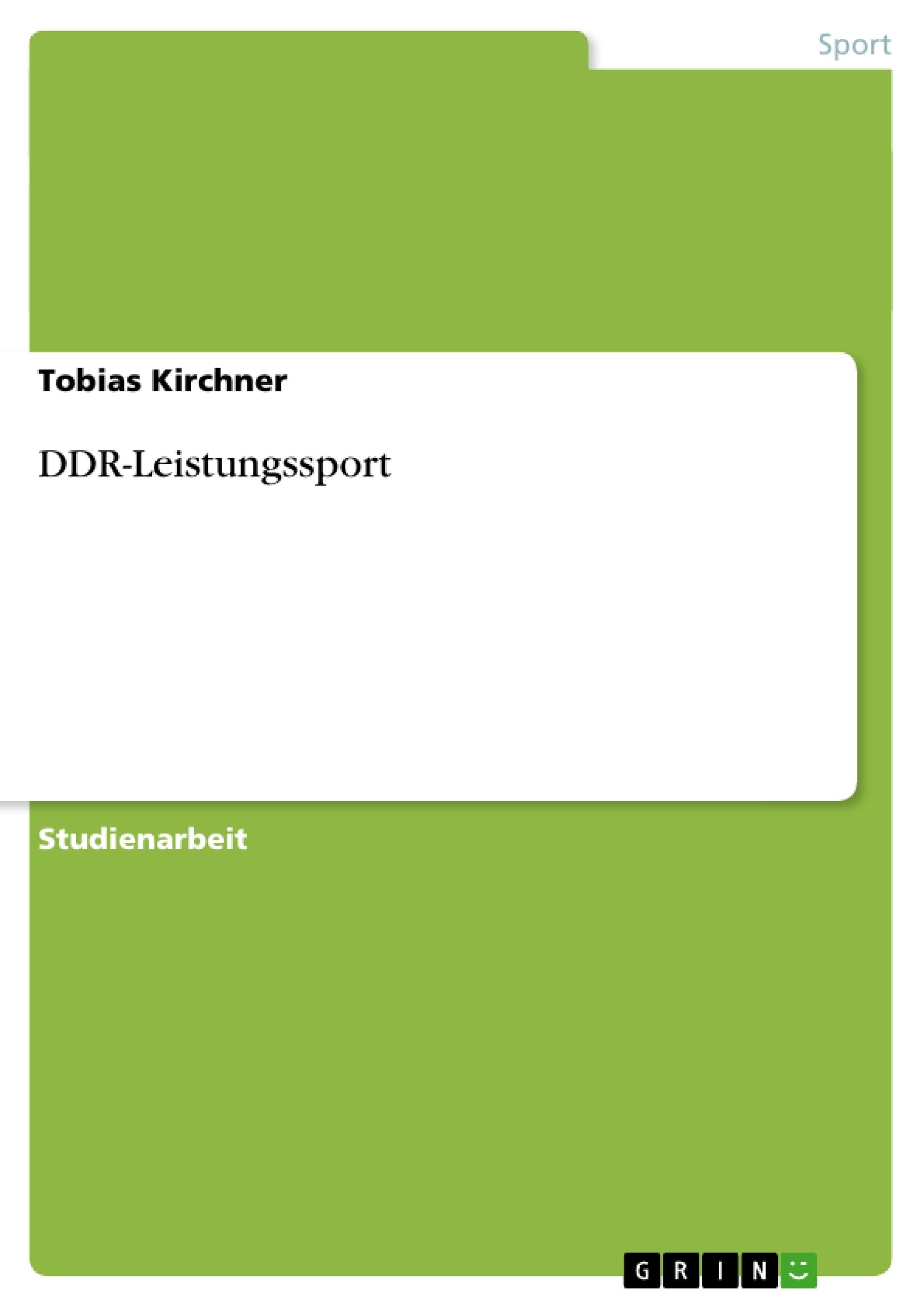 Titel: DDR-Leistungssport