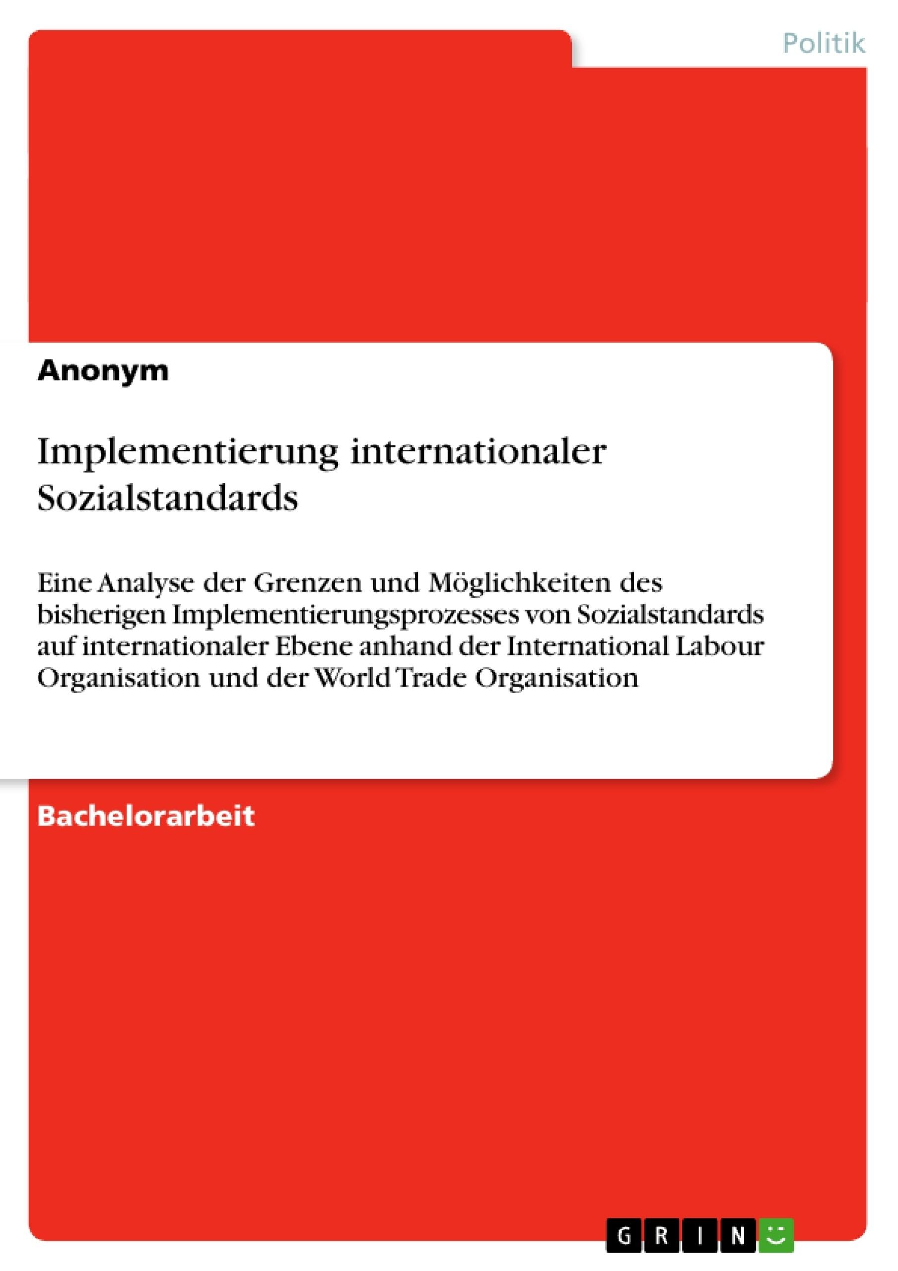 Titel: Implementierung internationaler Sozialstandards