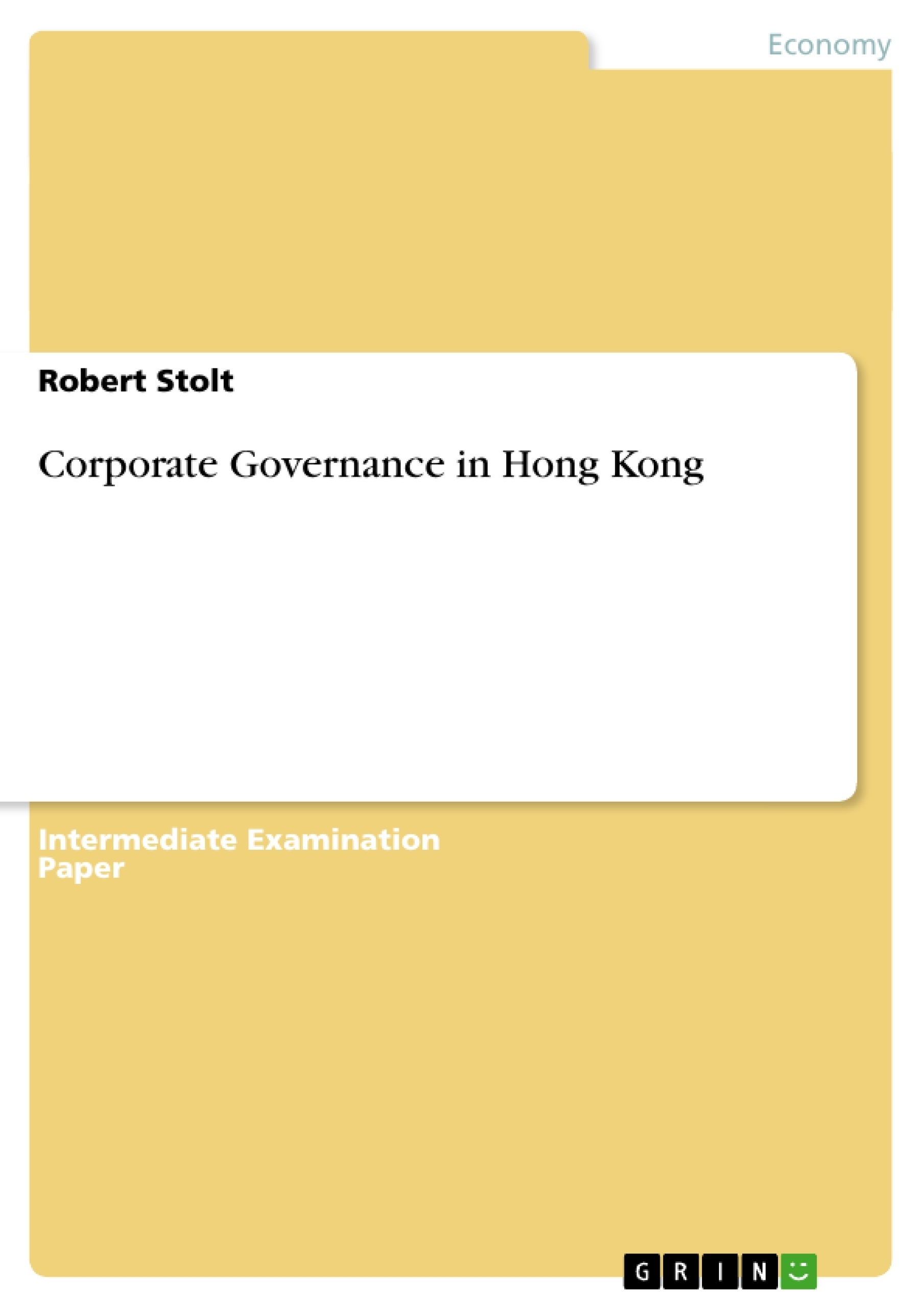 Title: Corporate Governance in Hong Kong