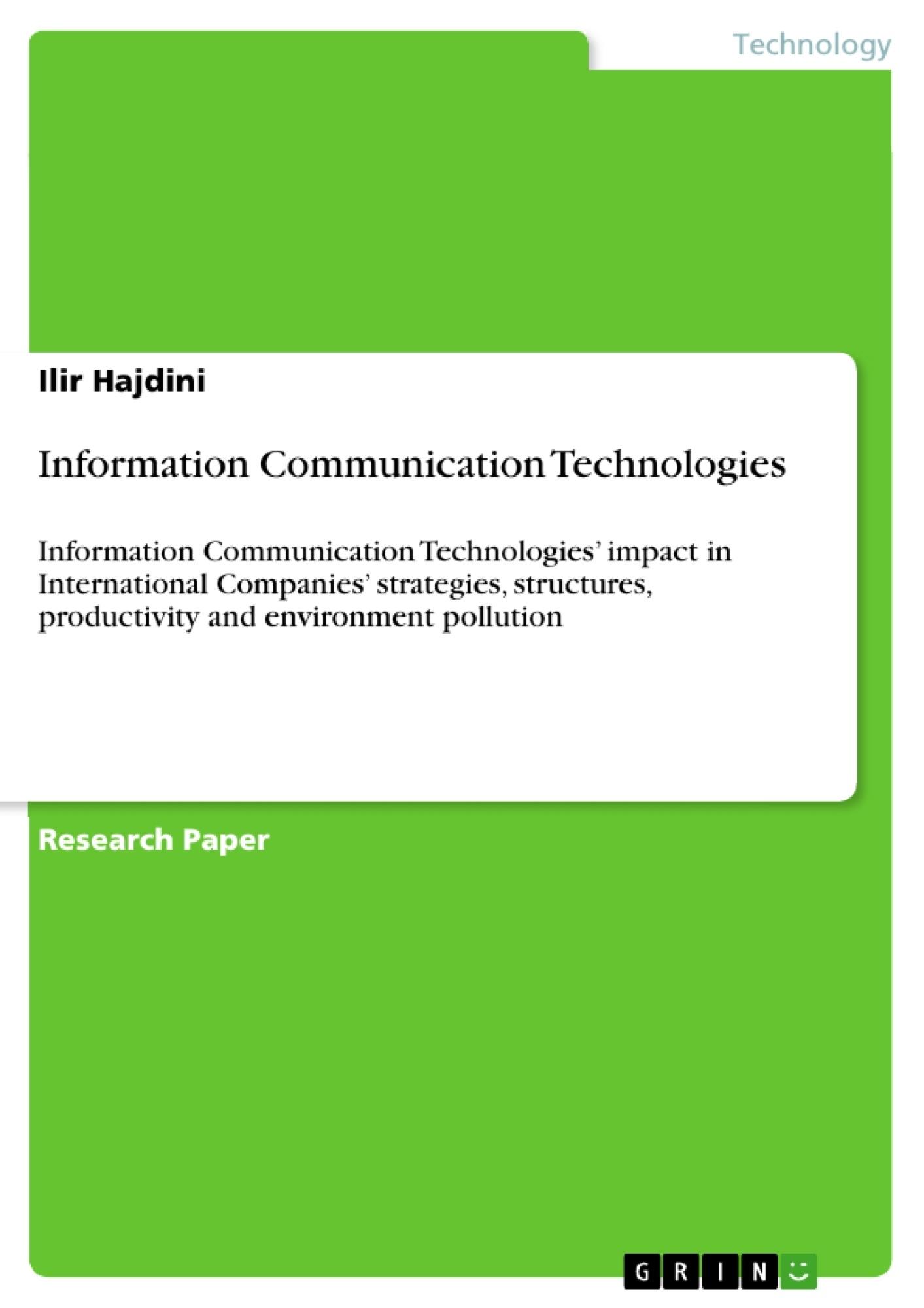 Title: Information Communication Technologies