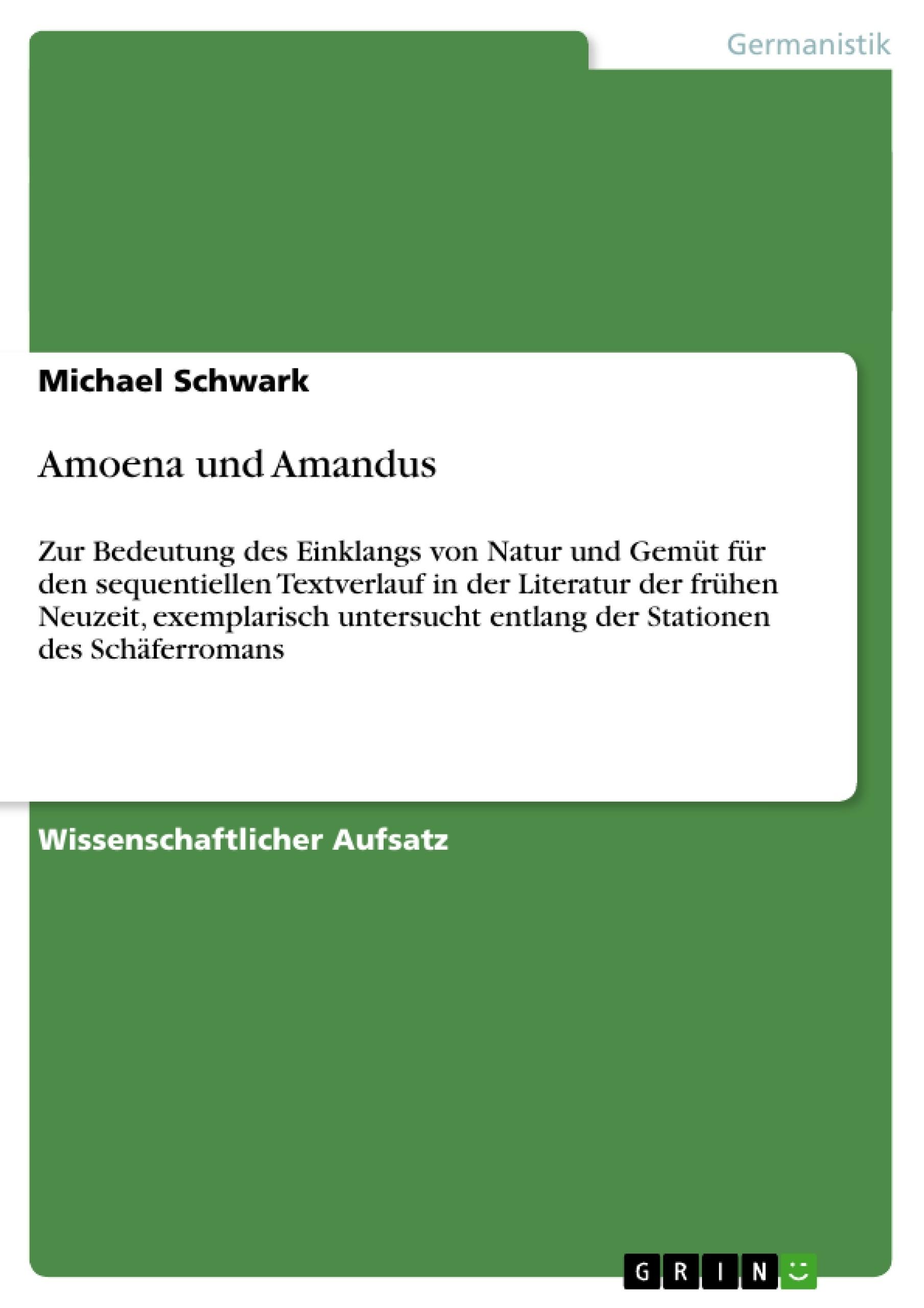 Titel: Amoena und Amandus