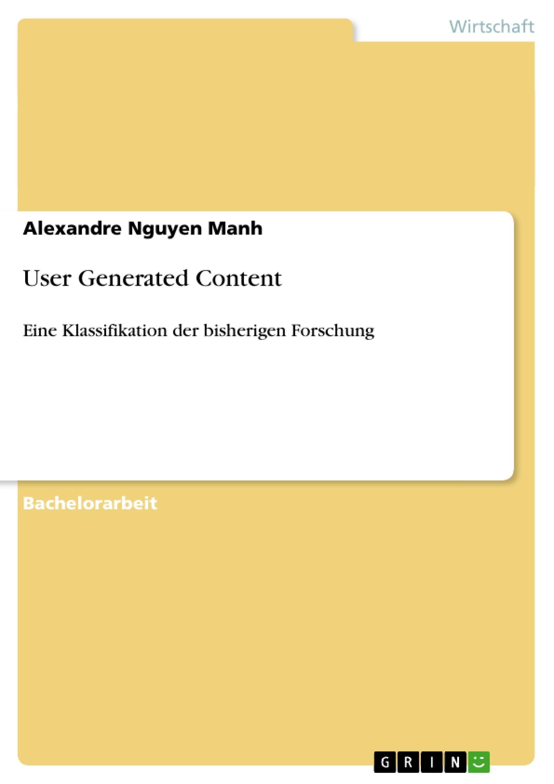 Titel: User Generated Content