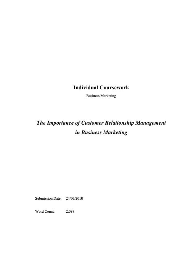The Importance of Customer Relationship Management in Business ...