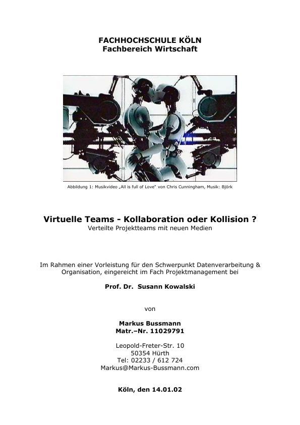Titel: Virtuelle Teams - Kollaboration oder Kollision?