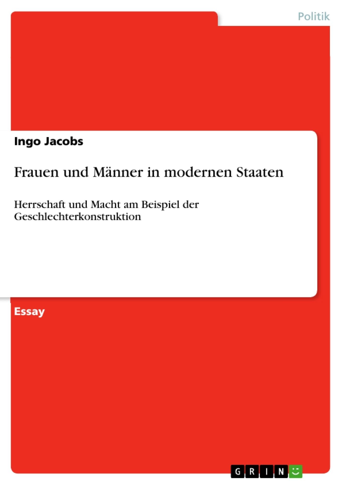 Titel: Frauen und Männer in modernen Staaten