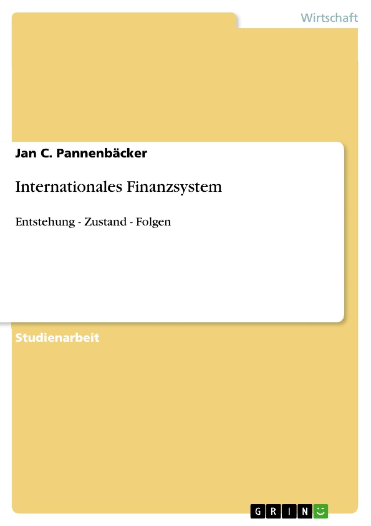 Titel: Internationales Finanzsystem
