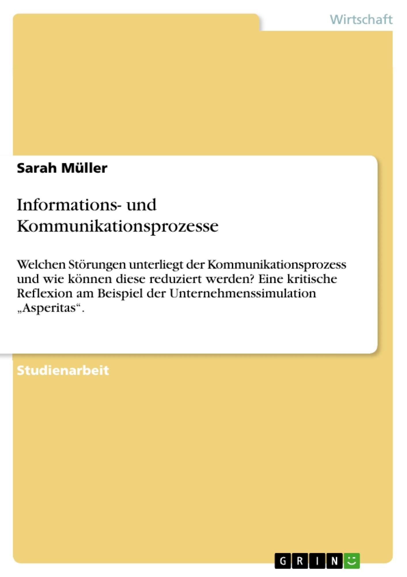 Informations Und Kommunikationsprozesse Hausarbeiten Publizieren