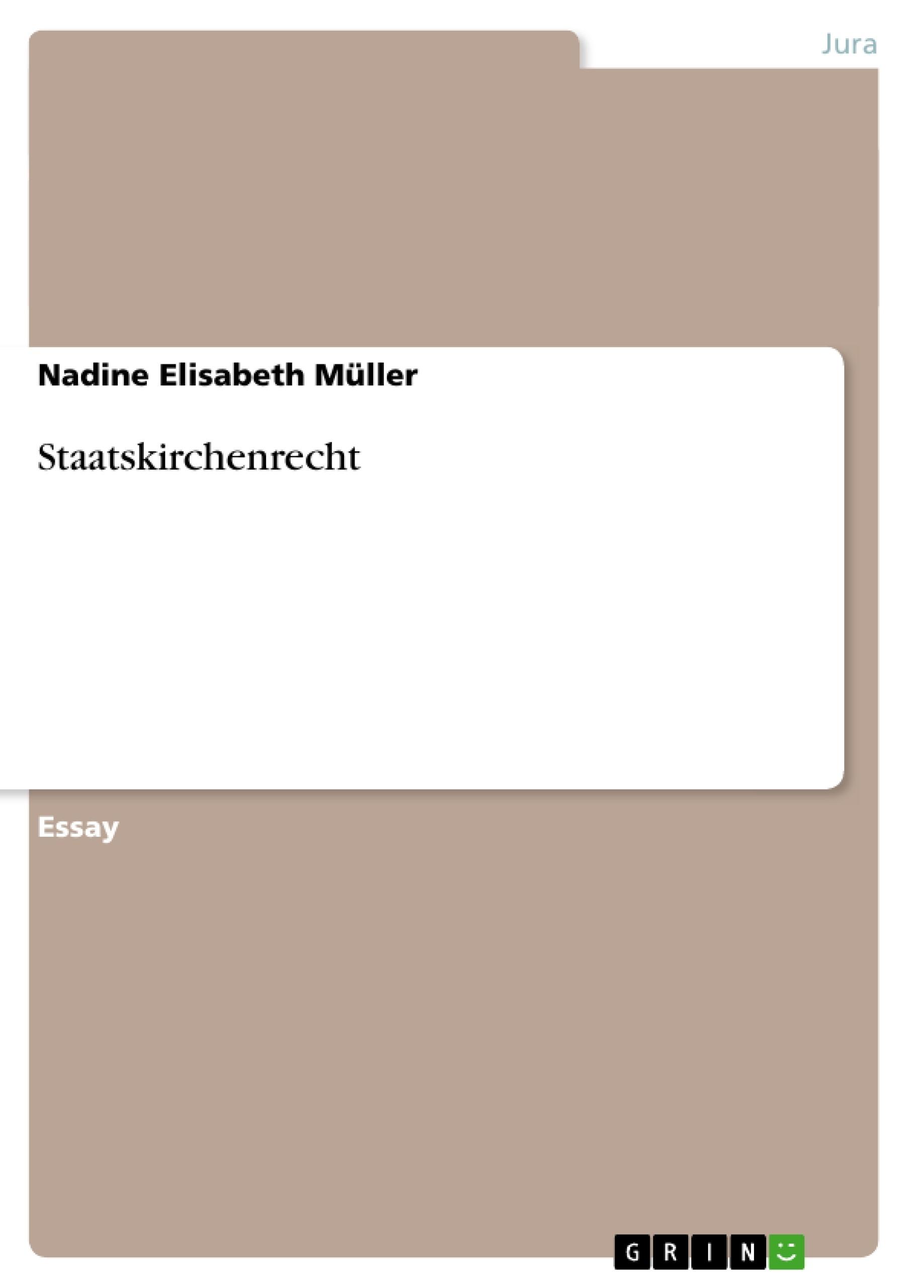 Titel: Staatskirchenrecht