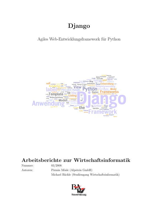 Titel: Django - Agiles Web-Entwicklungsframework für Python