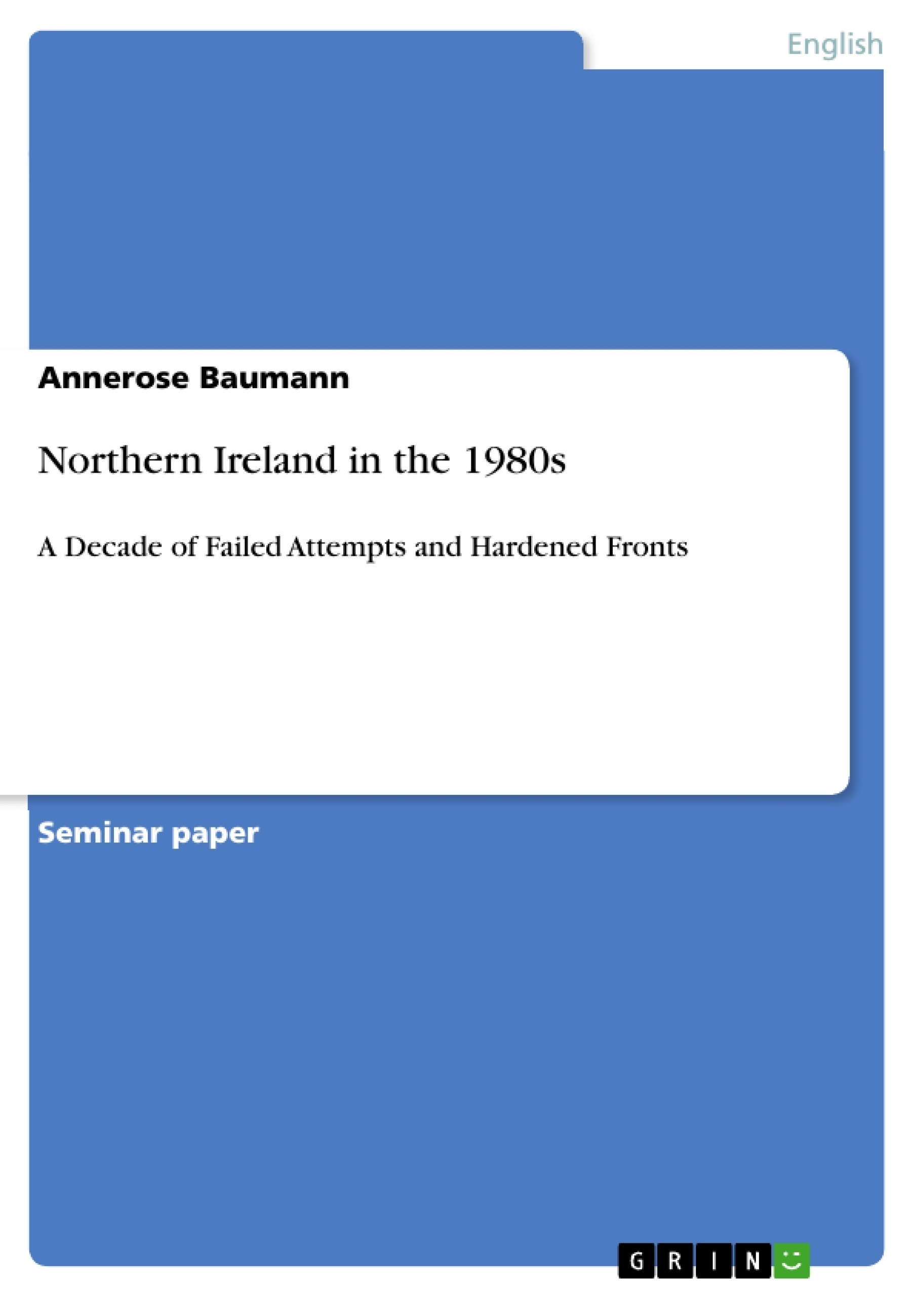 Title: Northern Ireland in the 1980s