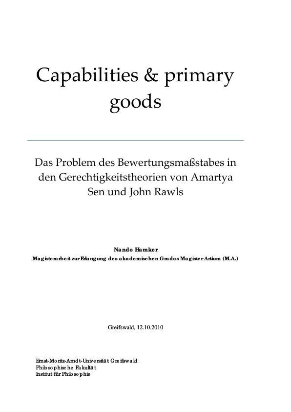 Titel: Capabilities & primary goods