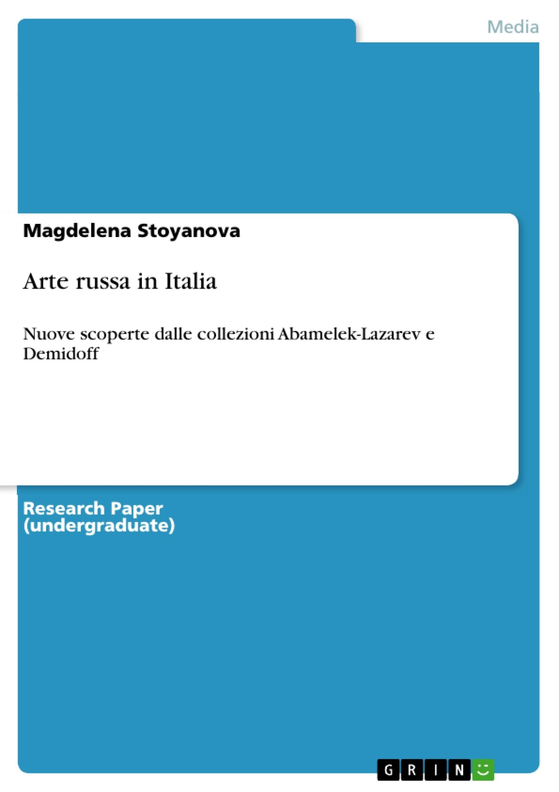 Title: Arte russa in Italia