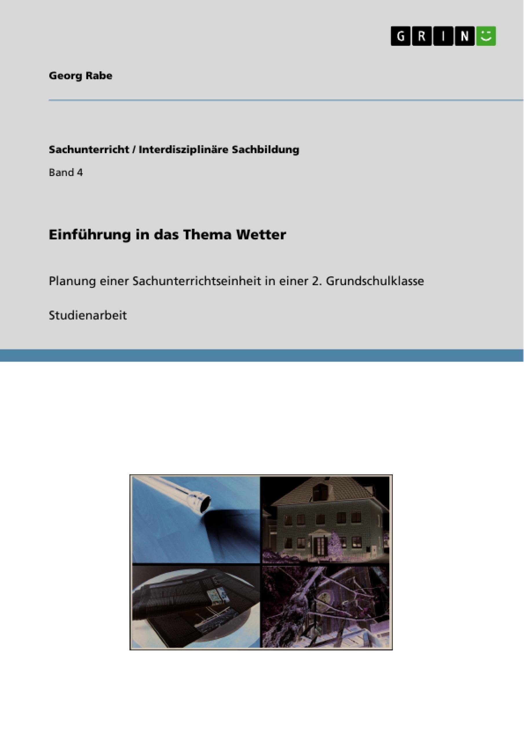 Titel: Einführung in das Thema Wetter